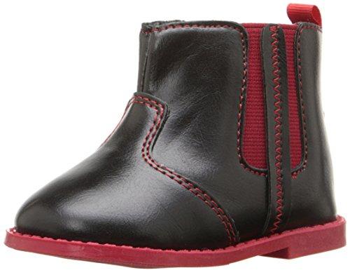 Rugged Bear RB24335 Boot (Infant/Toddler), Black/Red, 3 M US Infant