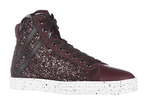 Hogan Rebel Damesschoenen Hoge Top Leren Sneakers Sneakers R182 Colletto Imbot