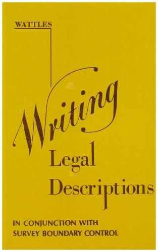 Writing Legal Descriptions ()