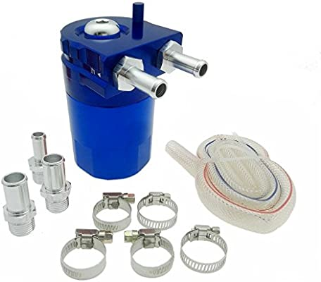 heinmo 5 Color Universal aleación de aluminio cilindro coche Depósito de aceite Catch Can tanque