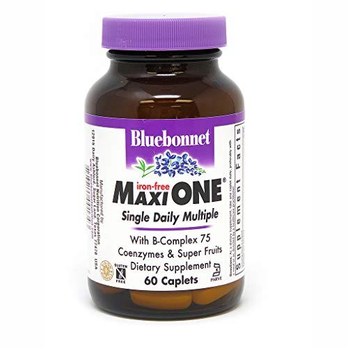Bluebonnet Maxi One Iron Free Caplets, 60 Count