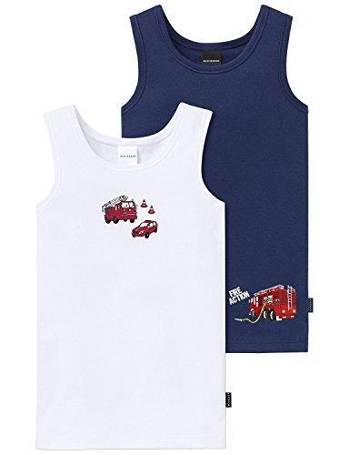 Schiesser Jungen Unterhemd 2pack Hemd 0/0, 2er Pack, Mehrfarbig (Sortiert 1 901), 104