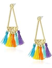Geo Tassel Chandeliers Stud Earrings