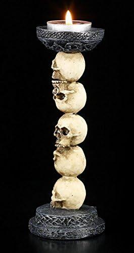 Colonne de Cr/âne Gothique Chandelier T/ête de Mort T/ête de Mort Porte-Bougies