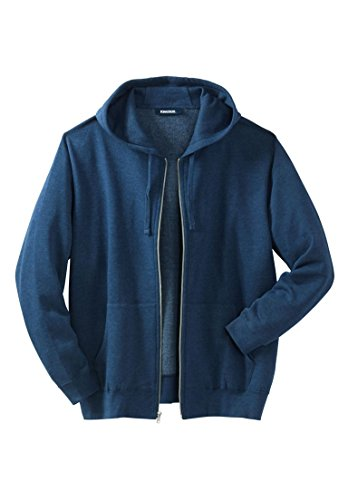 Kingsize Mens Fleece Zip Front Hoodie