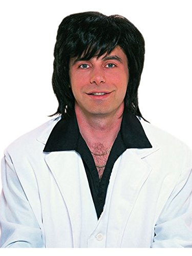 Rubie's 70's Shag Wig, Black, One