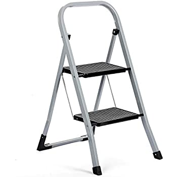 Delxo 2 Step Ladder Folding Step Stool Ladder With