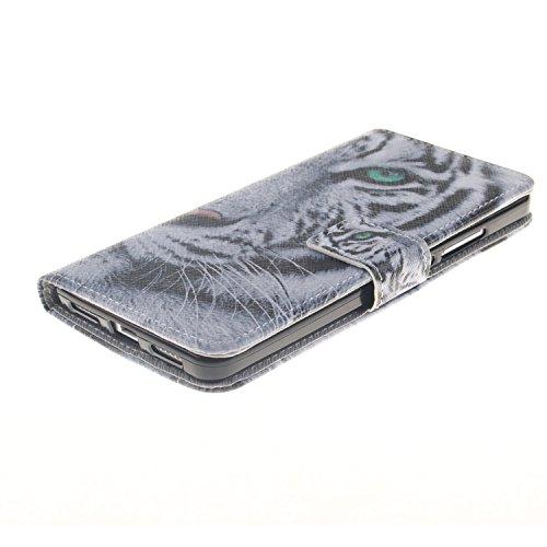 Protection Gocdlj Shell Cover Etui Couvrir Lite Conception Pour Back Huawei Coquille Pu Housse Coverture Case Flip Sac P8 Blanc Leather Wallet Cas Tigre Coque rvrATqU