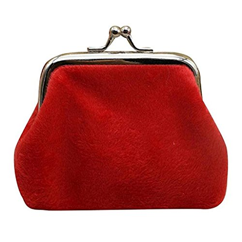 Bag Mini cute wallets Wallet 2018 Corduroy Coin Wallet Red small Lady Purse Noopvan Clearance Clutch Hasp pBPwHqpUx