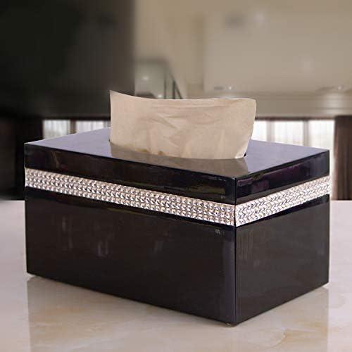 LCBLC Caja De Pañuelos De Resina Servilleta Caja De Papel Caja De Pañuelos De Almacenamiento De Escritorio con Diamantes De Imitación Bolsa De Pañuelos Extraíble: Amazon.es: Hogar