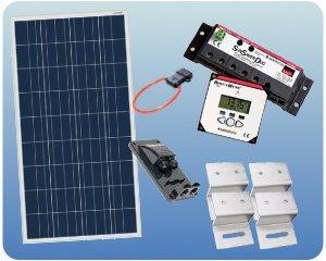 RV Solar Panel Kit - 100W 12V Charging System Flat