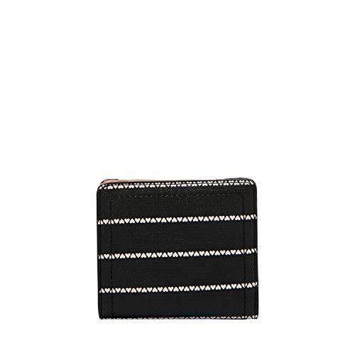 Fossil Women's Logan PVC Bifold Wallet, Black/White