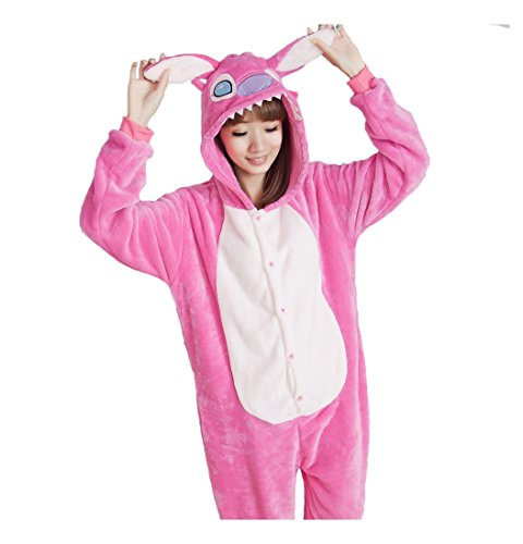 Unisex Adult Animal Oneise Kigurumi Pajamas Halloween Warm Cosplay Costume M (2 Person Costume Cheap)