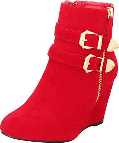 afaf6abc38e Shopping 8 - Red - Boots - Shoes - Women - Clothing, Shoes & Jewelry ...