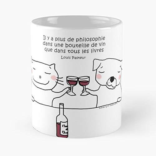Cat Doodle Humor Wine Coffee Mugs Unique Ceramic Novelty -