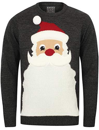 Seasons Pull Noir Beards Noël Twist Sweater Greetings Castlerock De Noel Père BBw4r