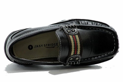Easy Strider Boys The AchieveHombrest Fashion Loafer Uniforme Escolar Zapatos Negro