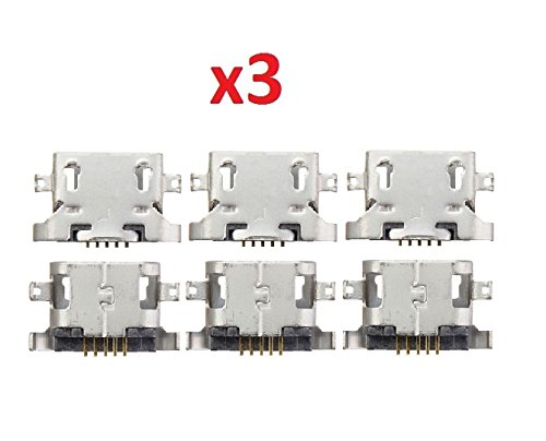 By Walking Slow-Lot of 3x Micro USB Jack Charging Port Connector Replacement For Moto G G4 4th Gen XT1622(Soldering needed)