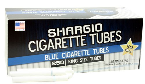 - Shargio Cigarette Tubes 250ct Box - Blue King Size Light (4 Boxes)