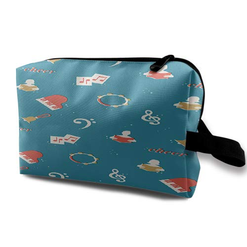 (handmade Makeup Box,Ladies Pouch Women Cosmetic Bag alfred music choral phone wallpaper ,One size )