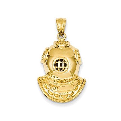 Buy core gold 14k divers helmet pendant