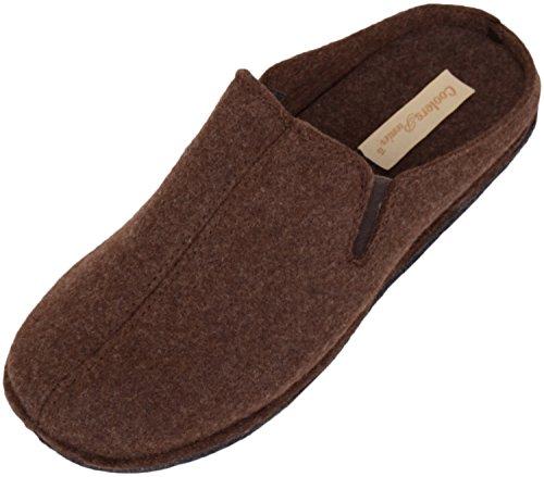 Scarpe Da Uomo Assolute Slip On Slippers / Mules / Indoor Shoes Con Tassello Doppio Marrone