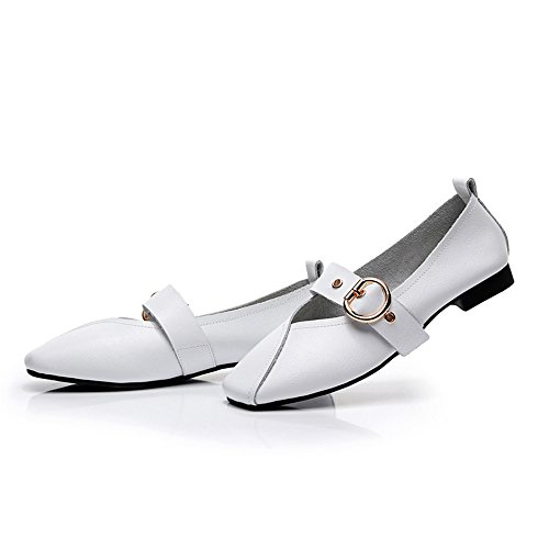 Dressy Satin xiaoyang Buckle Women's Party Ballet Dress Round with White Embellished Rhinestone Flat Toe ww57xrq