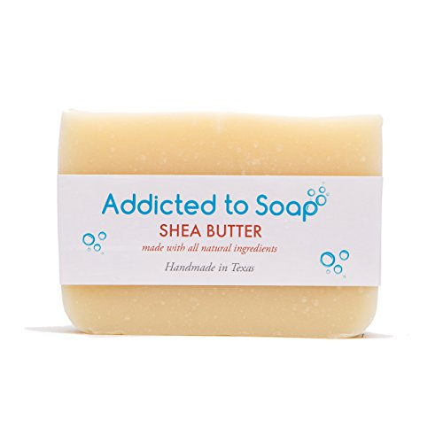 Addicted to Soap – Old Fashioned Natural Shampoo Bar 5 Ounces Eco-Friendly Solid Bar Shampoo for Men & Women Organic Coconut Oil Sulfate Free Leaves Hair Shiney Soft (Shea Butter Shampoo Bar)
