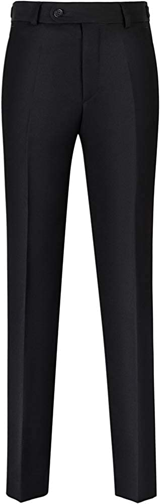Stenser Boys Suit Pants Black B10A