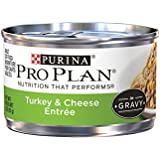Purina Pro Plan Wet Cat Food, Savor, Adult Turkey and Cheese Entrée, 3-Ounce Can, Pack of  24