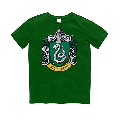 Crest Youth T-shirt - HARRY POTTER Childrens/Kids Slytherin Crest T-Shirt (Youth XL) (Green)