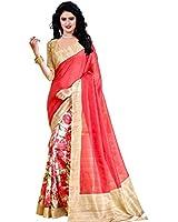 Trendz Women's Cotton Silk Saree With Blouse Piece (Tz_Sanskruti_Red)