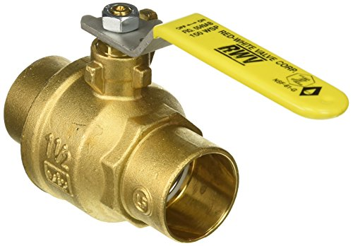 Red-White Valve 112RW5549AB Lead Free Commercial Full Port Ball Valve with Solder Ends (2 Piece), 1 1/2