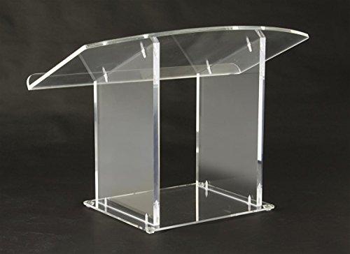 Displays2go Acrylic Pulpit Tabletop Lectern Clear Plexiglas Podium (LCTDSKKDAC)