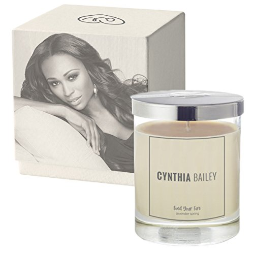 (CYNTHIA BAILEY Aromatherapy Soy Scented Candles with Essential Oils (Lavender)