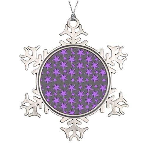OneMtoss Christmas Snowflake Ornament Tree Branch Decoration Dark Dancing Stars Dark Design Standart Outdoor Tree Snowflake Ornaments ()
