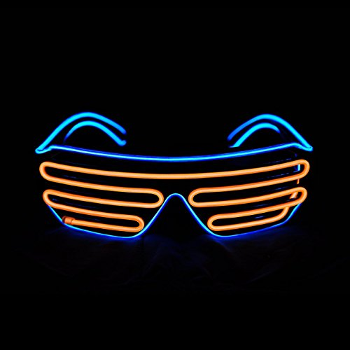 REINDEAR Party Shutter EL Wire Neon Glasses LED Sunglasses Light up Costumes