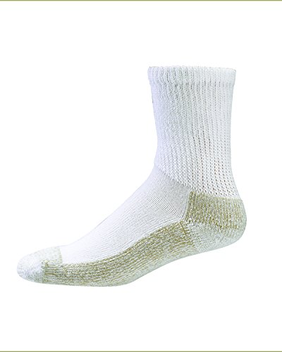 Aetrex Copper Non Binding (Aetrex Copper Sole Unisex Diabetic Socks Crew - Large - White)