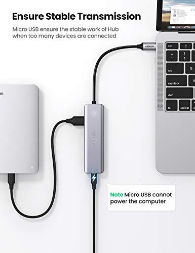 UGREEN USB C Hub 4 Ports USB Type C to USB 3.0 Hub Adapter with Charging Port for MacBook Pro iMac Samsung Galaxy Note 10 S10 S9 LG Google Chromebook Pixelbook Dell XPS Oculus Rift