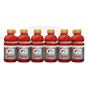 Gatorade G2 Sports Drink, Thirst Quencher FRUIT PUNCH, Low Calorie, 12-Ounce Bottles (Pack of 24)