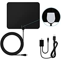 Blimark HD TV Antenna Digital Indoor Antenna 50 Mile Range Amplifier Signal Booster 10ft Coaxial Cable Ultra Thin Receiver Leaf for TV