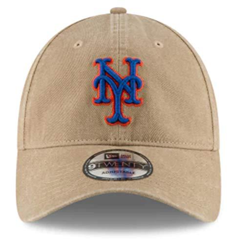 New Era New York Mets Core Classic Khaki 9TWENTY Adjustable Hat : OSFM ()