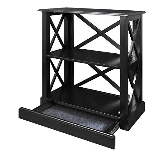 (Casual Home 615-32 Jackson Bookcase  with Concealed Drawer, Concealment Furniture, Black)