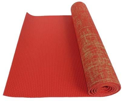 a247ef5efe3 Amazon.com : Kakaos Natural Jute Yoga Mat (Aqua Green) : Sports & Outdoors