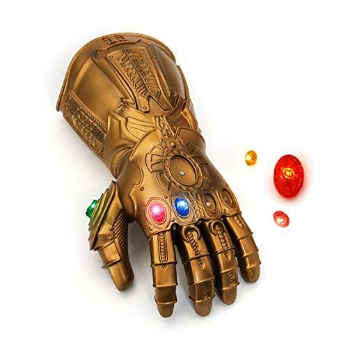 NUWIND Guante de Thanos con Luz Infinity Gauntlet de los Vengadores Magnetica Gemas Desmontable Disfraz de Cosplay Halloween Prop Adulto