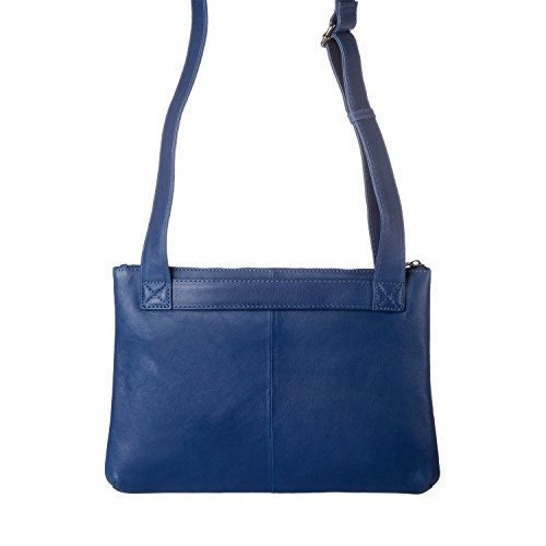 De 608 Bolso Mujer Mochila Dudu Azul 1523 14 Para Compact Cuero Rq88Xd