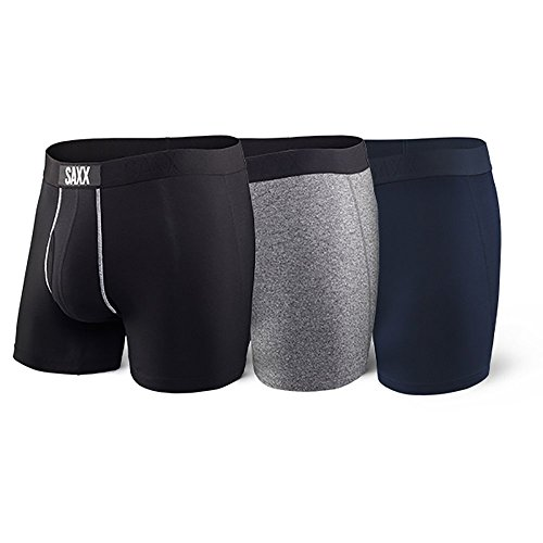 Saxx Underwear Men's Ultra Boxer Brief Fly Classic 3-Pack with Ballpark Pouch X-Large