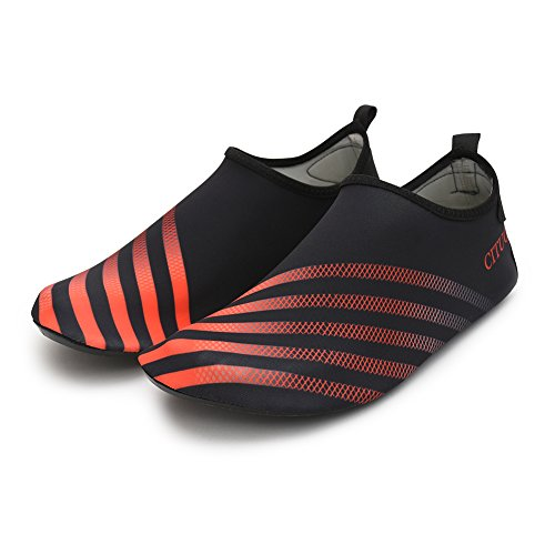 Shoes With Chiximaxu Swim Sports for Black Adult Aqua Yoga Barefoot Orange Socks Run PXpnXqxgw