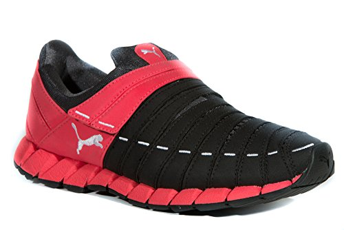 Puma - Zapatillas de running para mujer Negro negro/rojo