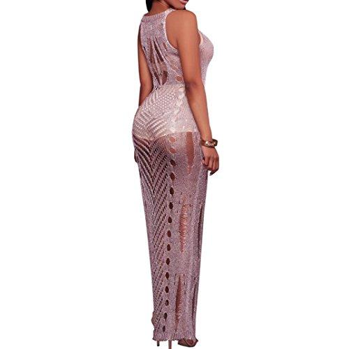 Pizzo Costume Estivo Copricostume Elegante Bikini Vestito Beautyjourney Donna Estate Viola Sexy Abito Mare Vestiti Costumi Lungo FFwO8rIq